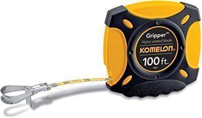 Komelon Gripper Steel Tape Measure, 100ft