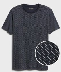 Men's Microprint Dress T-Shirt