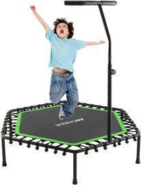 Trampoline with Adjustable Handle