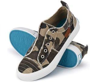 JENN ARDOR Women's play/fashion unlaced slip on canvas casual shoes