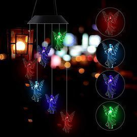 LED Angel Solar Wind Chimes