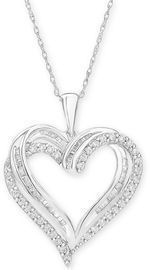 Diamond Heart Pendant 18 Necklace