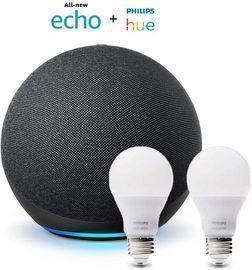 4th Gen. Amazon Echo Bundle w/ Philips Hue Bulbs (2-pack)