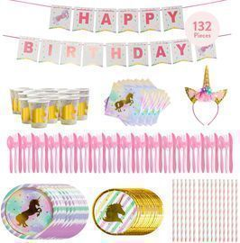 Unicorn Party Supplies Set by Liveable