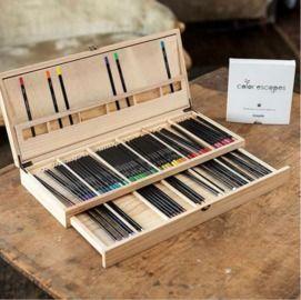 Crayola Premium 72ct. Colored Pencil Set w/ Case By Color Escapes