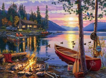 Buffalo Games - Canoe Lake 1000 Piece Jigsaw Puzzle