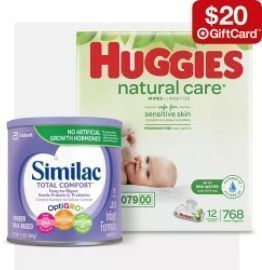 Target - Free $20 Gift Card w/ $100 Baby Essentials w/ Same-Day Pickup/Delivery