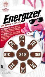 8-Pack Of Energizer 312 Alkaline Batteries