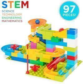 97-Piece Create Your Own Marble Maze Run Game Set