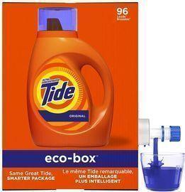 Tide Laundry Detergent Liquid Eco-Box (105 oz, HE Compatible)