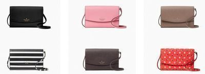 kate spade - laurel way winni crossbody wallet with snap closure
