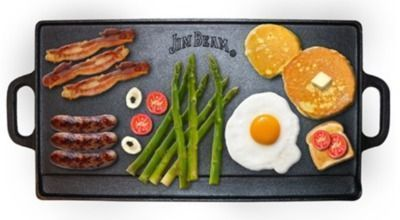 Jim Beam Double-Sided Cast Iron Griddle (JB0168)