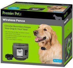 Premier Pet Wireless Dog Fence, Portable, 1/2 Acre Coverage