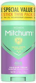 2pk of Mitchum Antiperspirant Deodorant Sticks