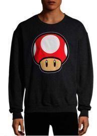 Nintendo Men's Mario Kart Power Up Graphic Fleece Sweatshirt