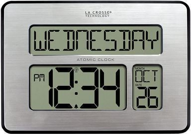 La Crosse Technology Backlight Atomic Full Calendar Clock