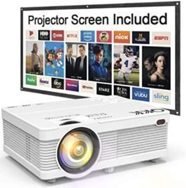 Mini Portable LCD Projector - 100 Projector Screen Included