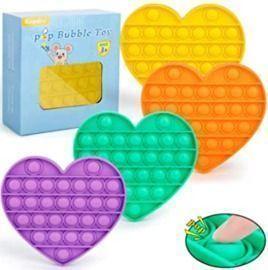 Push Pop Bubble Fidget Sensory Toy Set, 4 pack