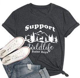 Support Wildlife, Raise Boys - Mom TShirt