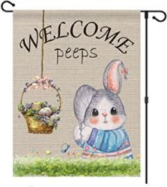 Welcome Peeps Garden Flag