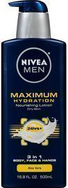 Nivea Men's Maximum Hydration 3-in-1 Nourishing Lotion 16.9-oz Bottle