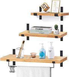 Solid Wood Floating Shelf 3-Pack