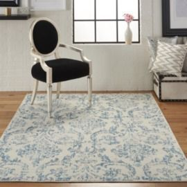 Nourison Jubilant Farmhouse Damask 5'3x7'3 Area Rug
