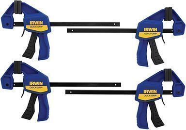 Irwin Quick-Grip 6 One Handed Clamps, 4-Pack