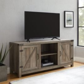 Manor Park Farmhouse Barn Door TV Stand for TVs up to 65