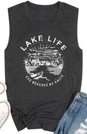 Women's Graphic Tank Top - Lake Life