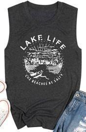 Women's Graphic Tank Top - Lake Life