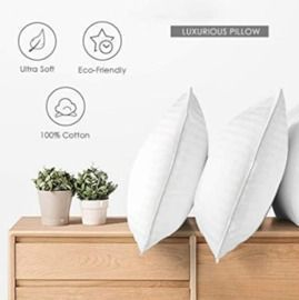 2 Pack, Cozy Dream Series Hotel Quality Pillows (Queen)