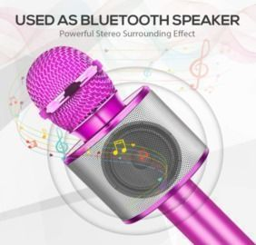 Wireless Microphone Karaoke Machine with Speaker for Kids