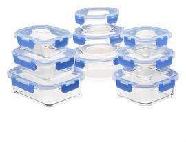 AmazonBasics Locking-Lid Glass Food Storage 18-Piece Set