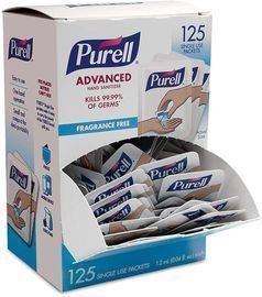 125 Single Use PURELL Advanced Hand Sanitizer Gel