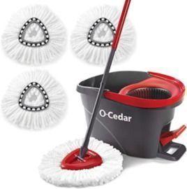 O-Cedar Easywring Microfiber Spin Mop & Bucket + 3 Refills