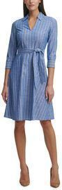 Tommy Hilfiger Cotton Striped Belted Dress