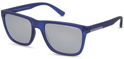 Armani Exchange Transparent Matte Navy Square Sport Sunglasses
