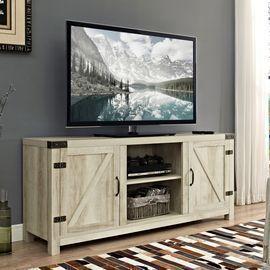 Modern Farmhouse Barn Door TV Stand