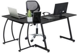 SmileMart L-Shaped Corner Home Desk