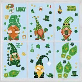 St. Patrick's Day Static Window Sticker - 9 Sheets