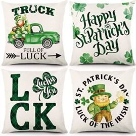 St. Patrick's Day 18x18 Pillow Covers