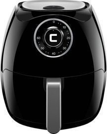 CHEFMAN 6.5L Analog Air Fryer, Black/Stainless Steel