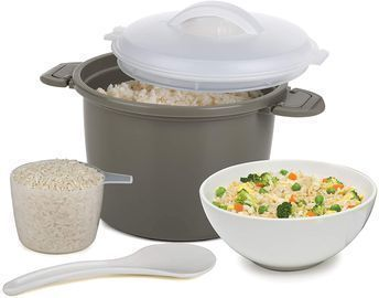 Progressive International 4-Piece Microwave Rice Cooker Set