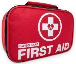 Swiss Safe 2-in-1 120pc First Aid Kit + Bonus 32pc Mini First Aid Kit