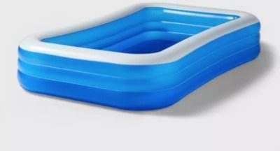 10' X 22 Deluxe Rectangular Family Inflatable Above Ground Pool