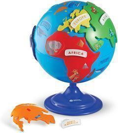 Learning Resources Puzzle Globe, 3-D Geography Puzzle