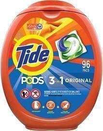 Tide Pods Laundry Detergent Liquid Pacs (96 Count)