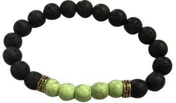 Stone Beads Stretch Strand Bracelet