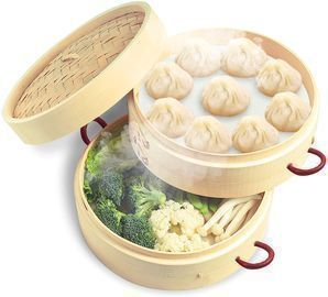 2 Tiers 10 Bamboo Steamer